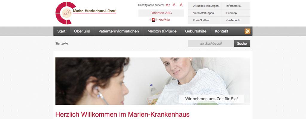 Screenshot Deutschlands beste Klinik-Webseite Platz 3!
