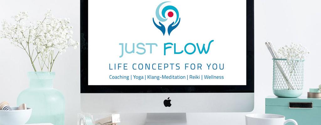 Screenshot Logo für Just Flow in Hamburg